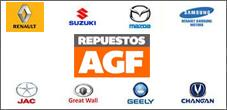 Repuestos Renault, Samsung, Mazda, Suzuki, Repuestos AGF