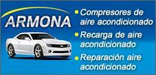 Aire Acondicionado para Autos, Carga y Reparación,  Escapes Armona