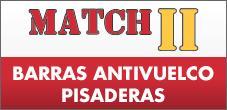 Barras Antivuelco, Pisaderas Aluminio para Camionetas, Match II