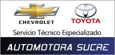 Servicio Tecnico Especializado Chevrolet y Toyota, Automotora Sucre