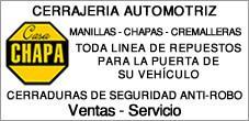 Cerrajeria Automotriz, Alzavidrios y Cierre Centralizado, Alarmas, Casa Chapa