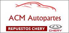 Repuestos Chery Originales y Alternativos, ACM Autopartes en Santiago