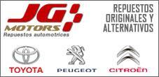 Repuestos Toyota, repuestos Peugeot, JG Motors