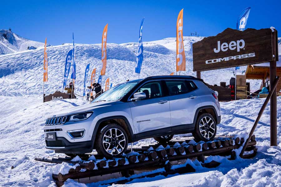 jeep compass en valle nevado 2018